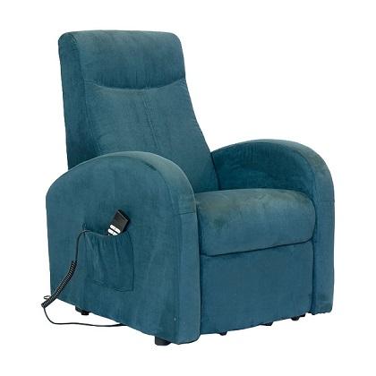 sillon reclinable con reposabrazos altos