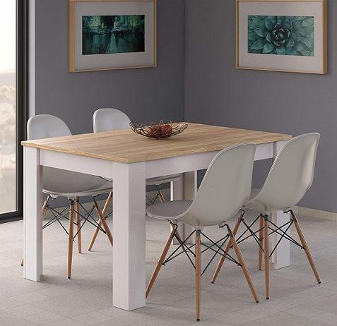 🥇 Mesa de comedor extensible Habitdesign Comprar Barata ...
