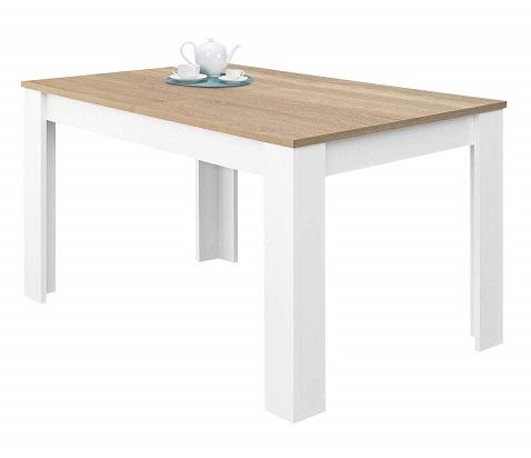 comprar mesa de comedor extensible blanca precio barato online