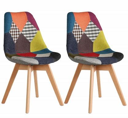 comprar sillas comedor vintage patchwork precio barato online