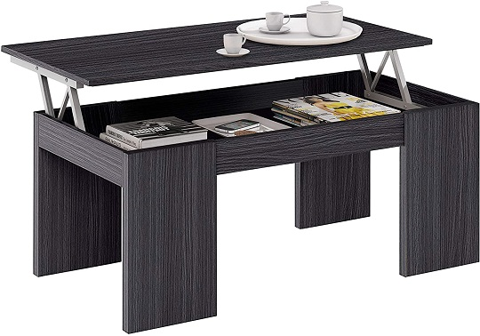 comprar mesa elevable de centro gris ceniza precio barato online