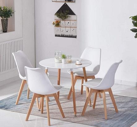 comprar sillas escritorio blancas patas de madera precio barato