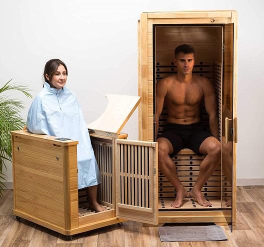 comprar sauna medio cuerpo precio barato online