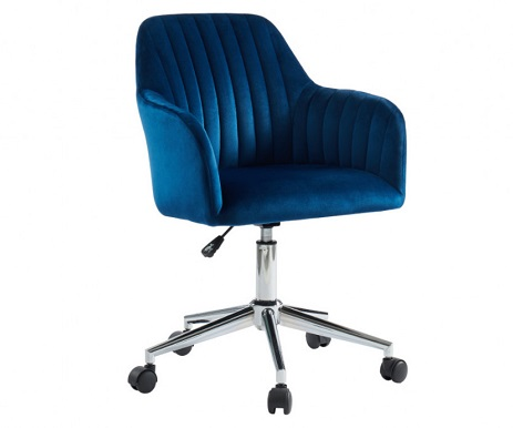 comprar silla escritorio terciopelo azul precio barato online