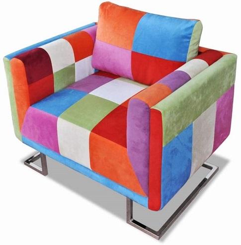 comprar sillon cuadrado patchwork precio barato online