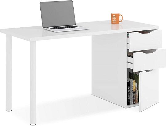 comprar mesa de ordenador reversible blanca precio barato online