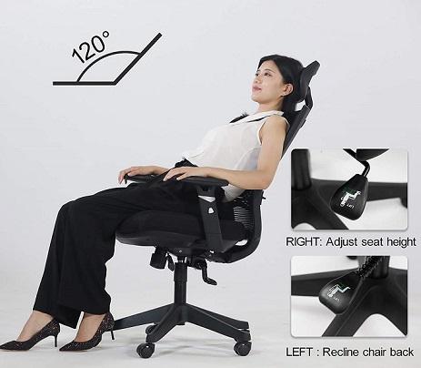 comprar silla de oficina con apoya cabeza precio barato online