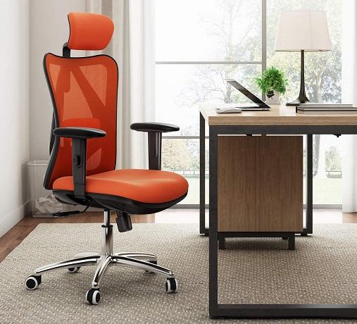 comprar silla de oficina naranja precio barato online