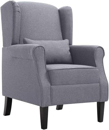 comprar sillon de tela gris precio barato online