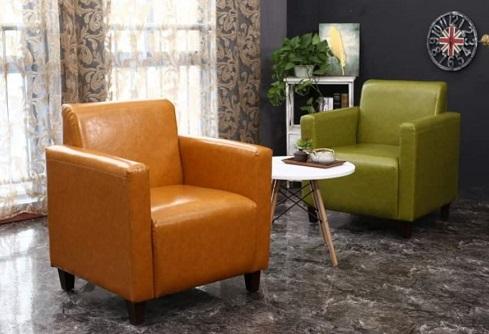 comprar sillon naranja de madera precio barato online