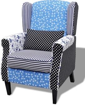 comprar sillon patchwork azul precio barato online