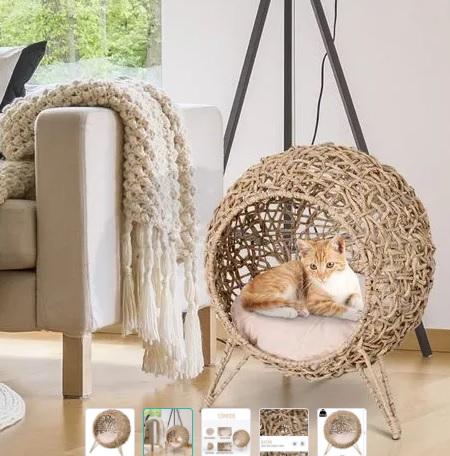 comprar cueva de ratan para gatos precio barato online