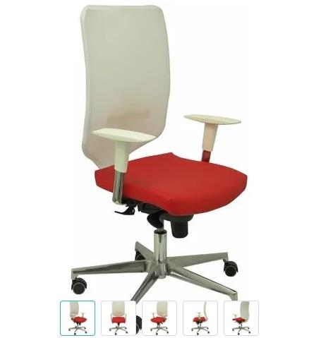 comprar silla escritorio blanca y roja precio barato online