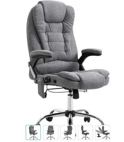 comprar silla oficina con masaje gris precio barato online