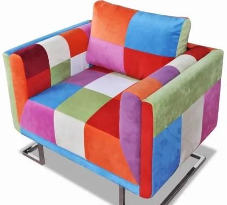 comprar sillon con diseño de retales precio barato online