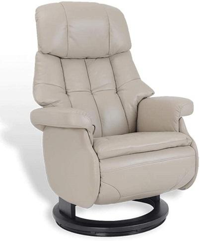 comprar sillon de relajacion de cuero con puff precio barato online