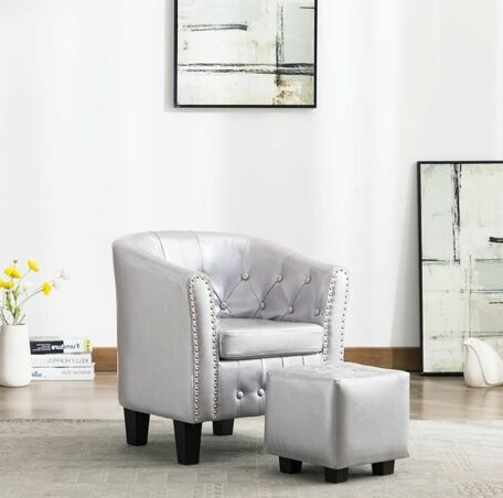 comprar sillon diseño cubo reposapies precio barato online