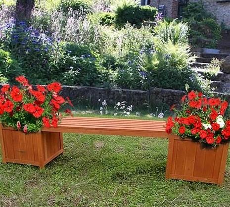 comprar jardineras de madera con banco precio barato online chollo