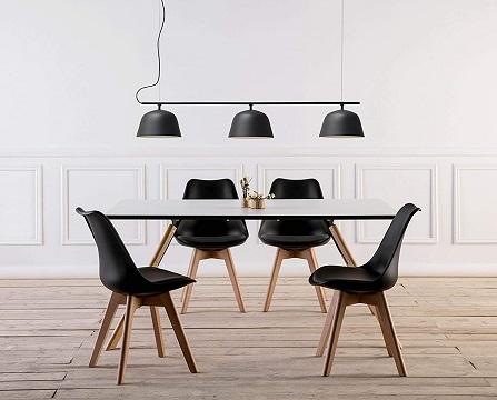 comprar sillas comedor nordicas negras precio barato online