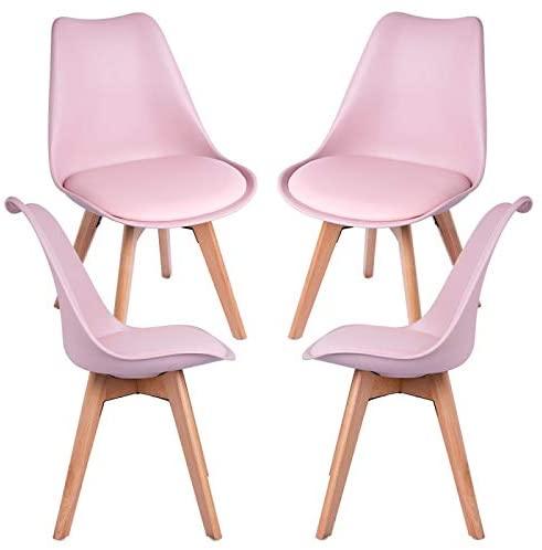 comprar sillas comedor rosa palo precio barato online