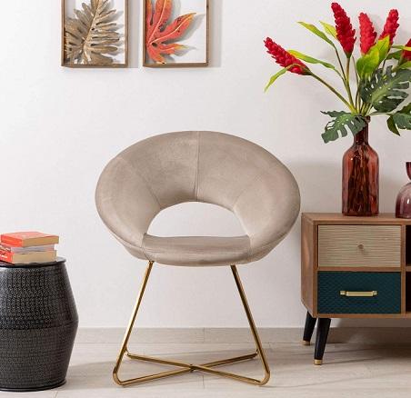 comprar sillon circular terciopelo precio barato online