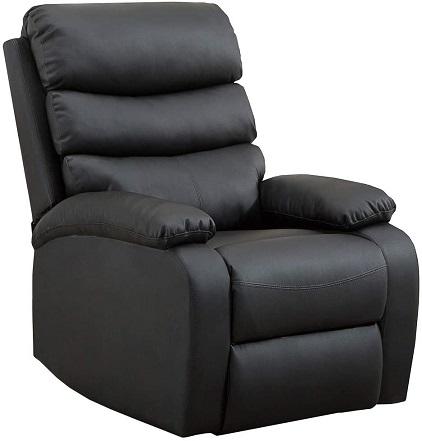 comprar sillon relax acolchado negro precio barato online