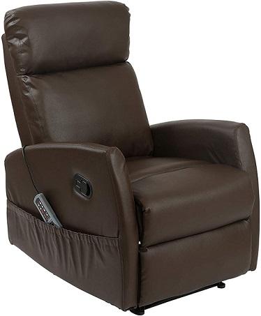 comprar sillon relax polipiel marron precio barato online