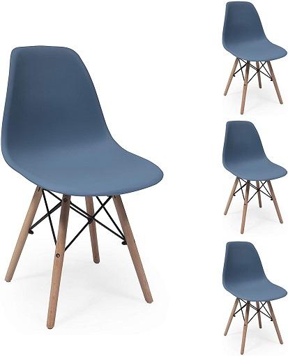comprar silla nordica azul precio barato online