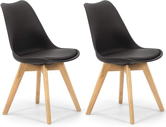 comprar silla nordica negra precio barato online