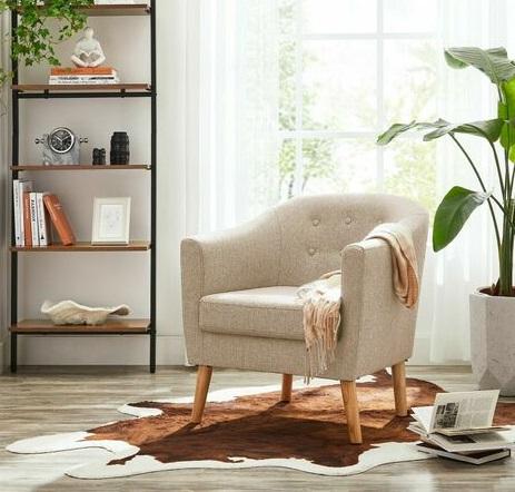 comprar sillon tela cojin tapizado precio barato online